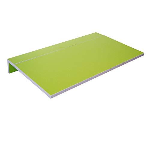 Mesa de Cocina Abatible - Modelo Montes - Color Verde/Plata - Material...