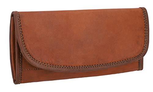 GUSTI Portafoglio donna pelle - Emma borsellino donna, portafogli donna grande, portamonete, porta carte di credito marrone