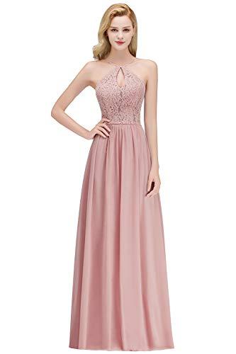 Babyonlinedress® Damen Elegant Langes Spitzenkleid Brustfrei Abendkleid Cocktailkleider Abschlussballkleid 42