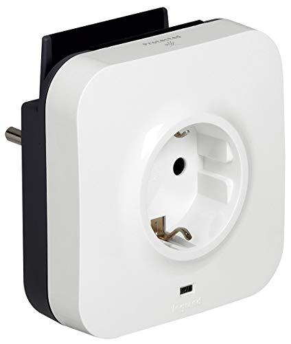 Legrand, Lade-Steckdose zum Aufladen von mobilen Geräten, integrierte Smartphone-Halterung und 2 USB-Steckdosen, 694671