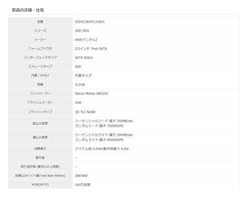 Intel(インテル)『SSD545』シリーズ