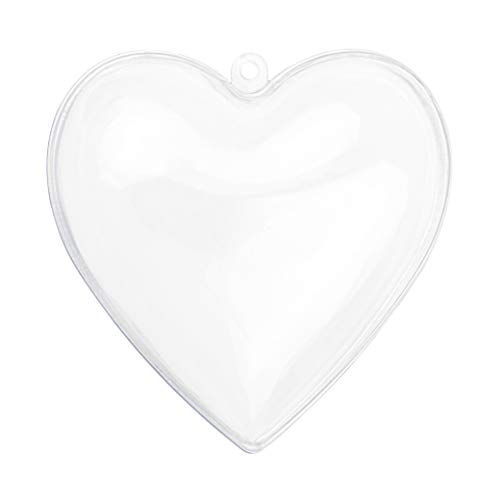 Heart Shaped Acrylic Candy Boxes - 12 Pack - 2.51'x2.08'x1.18'- Perfect for Weddings, Birthdays, Party Favors and Gifts   Designer Cute Clear Lucite Plastic Treat Containers