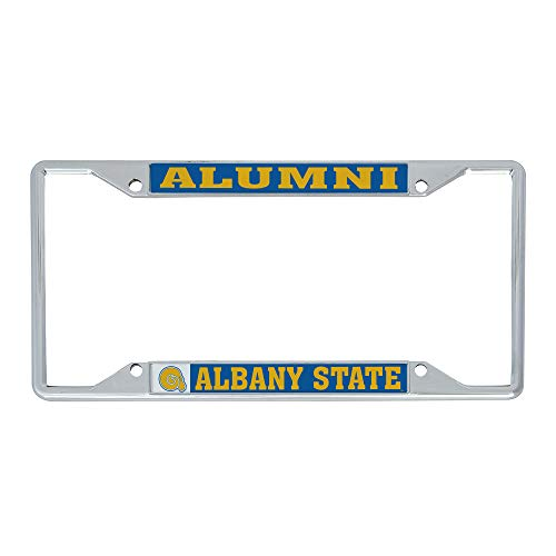 Desert Cactus Albany State University ASU Golden Rams NCAA Metal License Plate Frame for Front or Back of Car Officially Licensed (Alumni)