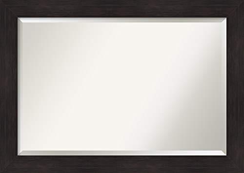 Amanti Art Framed Vanity Mirror   Bathroom Mirrors for Wall   Furniture Espresso Mirror   Wall Mounted Mirror   Large Mirror   29.62 x 41.62 in.