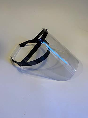 3 Stück transparente Gesichtsschutzfolie, Gesichtsschutz, Gesichtsschutz, Schutzvisier, mit Haltegriff, hinten x 3 Stück, schwarz