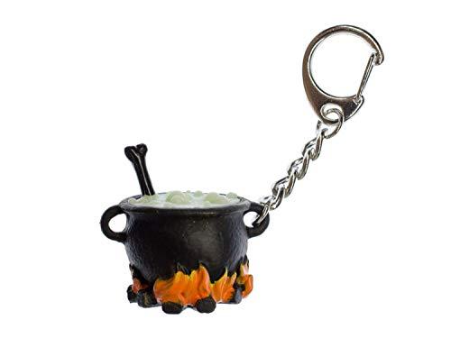 Miniblings Hexenkessel Kessel Zaubertrank Schlüsselanhänger - Handmade Modeschmuck I Anhänger Schlüsselring Schlüsselband Keyring - Hexenkessel Kessel Zaubertrank