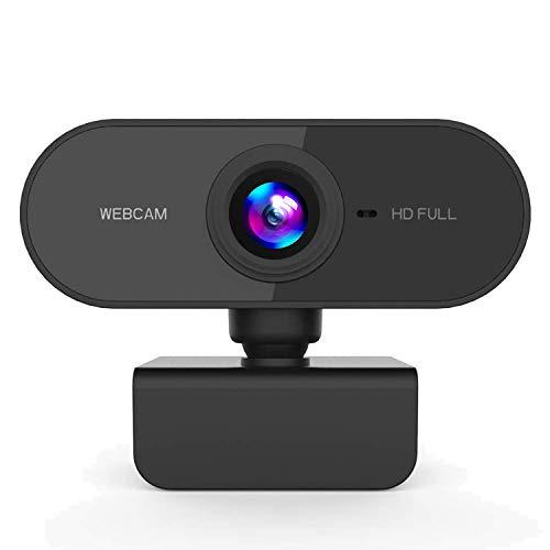 Bainuojia HD 1080P Webcam,con micrófono Plug and Play USB Cámara de transmisión en Vivo para Llamadas de Video de Grabación de Conferencia
