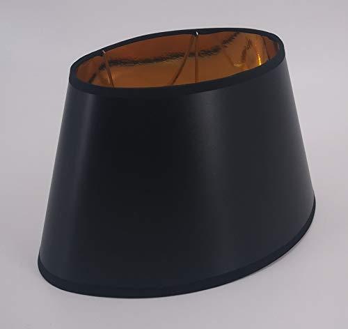 Lampenschirm-Oval-konische-Form Classic Schwarz (20 * 30 * 18cm)
