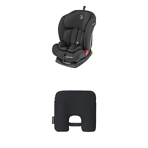 Maxi-Cosi Titan Silla Coche bebé grupo 1/2/3 isofix, 9-36 kg, silla auto bebé reclinable, crece con el niño desde 9 meses hasta 12 años + Dispositivo antiabandono para silla de coche, Negro