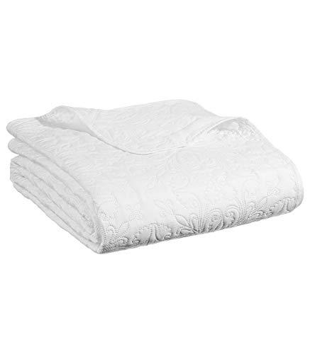 Bettwäsche, gesteppt, mit 2 Kissenbezügen, weich und warm, groß elfenbeinfarben