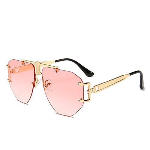 JSYTD-Sonnenbrille Polarisierte Damen-Sonnenbrille, Stilvolle Sonnenbrille Mit Quadratischem Verlauf Zum Schutz Vor Uv- Und Reflektiertem Licht Im Sommer-Transparentes Pulver