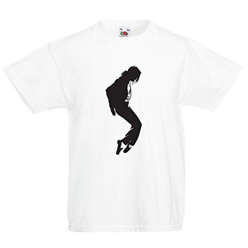 lepni.me T-Shirt pour Enfants J'adore MJ, Le Roi de la Pop, Fan de Musique et vêtements d'art de Danse 80s 90s (1-2 Years Blanc Noir)