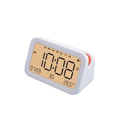 JOK Reloj de Alarma Creativo Multifuncional Inteligente Bluetooth cronógrafo Reloj Mini Carga Digital electrónica con Fecha de Temperatura