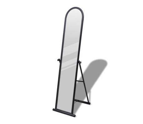 Dioche Housewares - Espejo de pie (marco de metal negro, altura de 152 cm, para salón o vestidor)