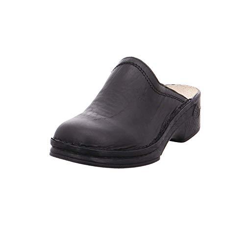 Helix Herren Pantolette Burma 52011-31 schwarz, Gr. 39-48, Leder Vollausstattung, Farben:schwarz, Herren Größen:48