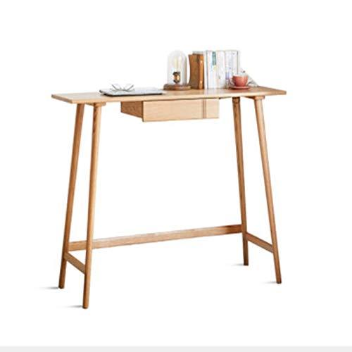 Mesa de barras Tabla De Barra Home Long Table Moderno Minimalista Minimalista Partición De La Sala De Estar Pequeña Mesa Alta Mesa de comedor de cocina ( Color : Natural , Size : 100x45.6x105.5cm )