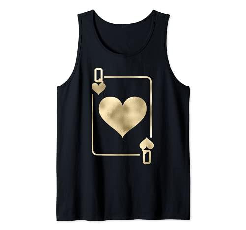 Disfraz de reina de corazones para Halloween Camiseta sin Mangas