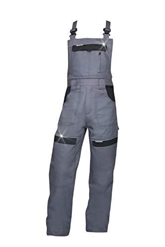K&G Profi Latzhose ARDCT H8404 GRAU + 100% Baumwolle Herrenlatzhose Beruflatzhose Schutzlatzhose Arbeitslatzhose Sicherheitshose Herren Hose Arbeitshose (50)