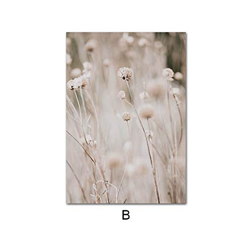 LiMengQi2 Decorative Poster Grass Landscape Nature Printed Canvas Nordic Mural Decoration Painting Home Room Decoration(No Frame)