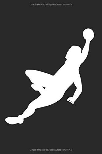 Handballer: 6x9 Zoll Notizbuch – kariert