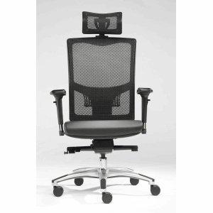 Sitwell Netz-Objekt-Bürostuhl Space schwarz mit Kopfstütze und Armlehnen