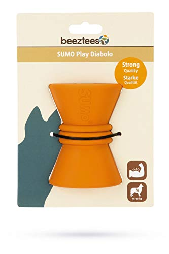 Beeztees Sumo Play Diabolo - Hondenspeelgoed - Oranje - 10 x 7 x 7 cm