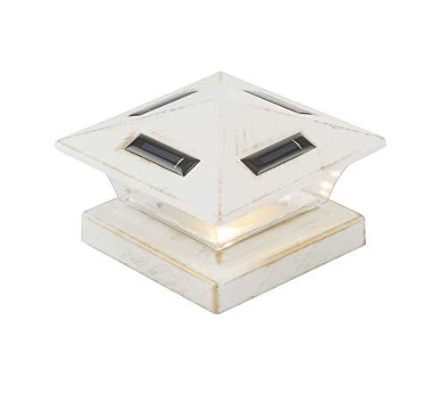 Farol solar exterior para jardín, color blanco (lámpara exterior, LED, para valla, 15 cm)