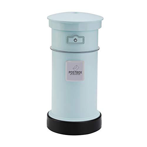 GTJXEY Mini humidificador para automóvil, humidificador USB de 200 ml, humidificador ultrasónico de Niebla fría de 200 ml con Ventilador LED luz Nocturna, Apagado automático sin Agua,Azul