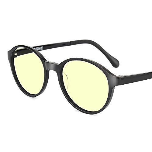 KAINUO Gafas de luz Azul para niños, Gafas de Bloqueo, protección Uv400, Gafas de Juegos de Ordenador Anti Rayos Azules/Anti arañazos/Rayos Ultravioleta, Black-Round Frame