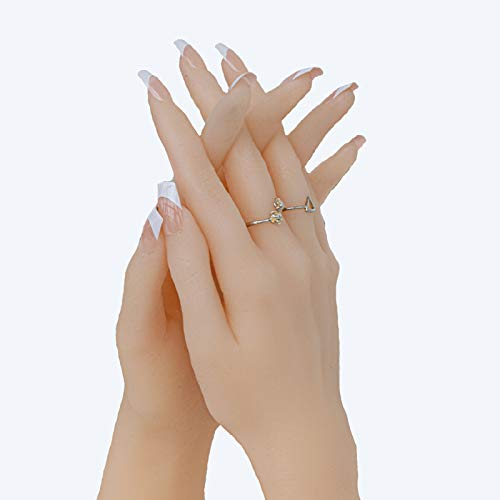 RHSMW Silikon Modell Hand, Silikon-Weibliche Handmodell-Imitation Hand-Muster-Lehre-Shooting-Medizinische Malerei-Anzeigenhand-Modell-Requisiten,Right Hand