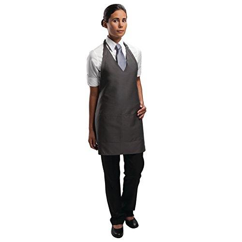 Uniform Works A892 Smoking schort, uniseks, polyester-katoen-, antraciet