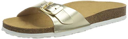 Only Herren ONLMADISON METALLIC LEATHER SLIP ON Sandale, Gold Colour, 39 EU