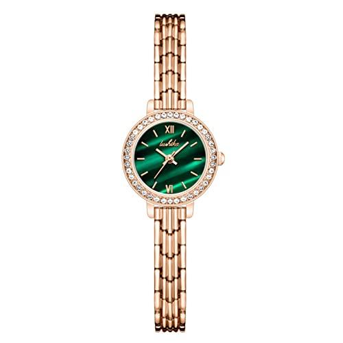 CNMJI Reloj Analogico para Mujer De Cuarzo, Mujer Relojes De Pulsera Impermeable Elegante Banda De Acero Inoxidable Relojes De Pulsera Moda Minimalist Vestir Negocio Relojes,Blanco