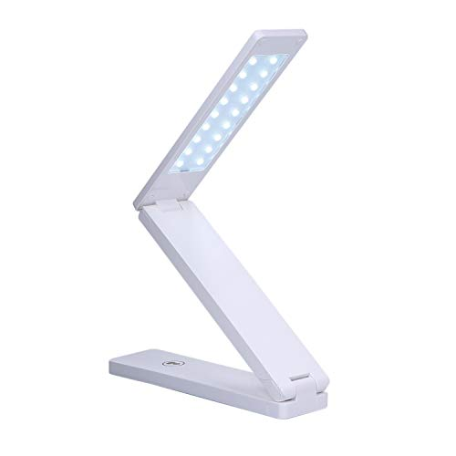 Ajcoflt 18 L-ED Lámpara de Escritorio Plegable Lámpara T-Capaz Diseño montado en la Pared Control T-ouch Sensible Brillo Continuo Luz Regulable Regulable Alimentado por USB Operado 800mAh