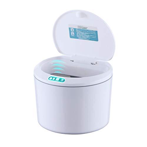 Atrumly Schreibtisch-Mülleimer, batteriebetrieben, automatischer Mini-Mülleimer mit Deckel, kleiner Mülleimer für Schreibtisch und Fahrzeug