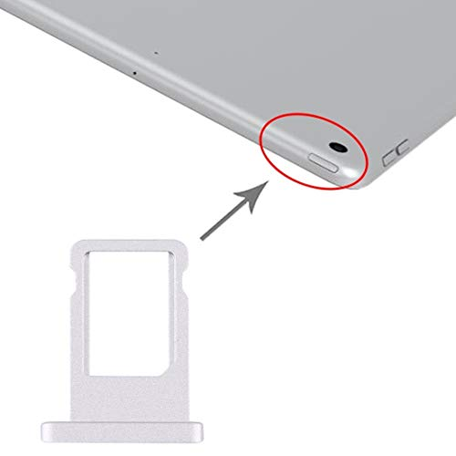 YANCAI Smartphone Replacement Parts SIM Card Tray for iPad 10.2 inch / A2200 / A2198 / A2232 Flex Cable (Color : Silver)