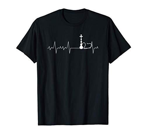 Herzschlag Herzfrequenz Herzlinie Shisha I Schischa T-Shirt