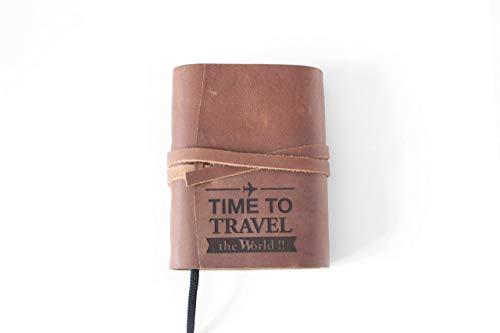 A6 Leder Tagebuch, Reisetagebuch, Notizbuch, Reisetagebuch, Business-Kladde, Liederbuch, Ideensammlung, Gastgeschenk Bullet Journal