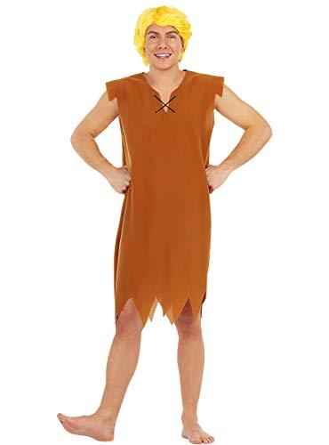 Funidelia | Disfraz de Pablo Mrmol - Los Picapiedra Oficial para Hombre Talla XL The Flintstones, Dibujos Animados, Los Picapiedra, Caverncolas - Color: Marrn - Licencia: 100% Oficial