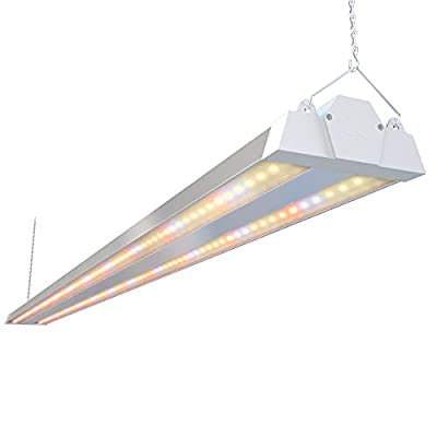 Freelicht 1 Pack 4ft LED Grow Light, 60W(220W Equivalent), Sunlike Full Spectrum Integrated Plant Light for Hydroponic Indoor Plant Seedling Veg and Flower, Plug in with On/Off Switch