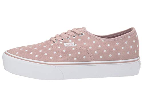 Vans Authentic Platform 2.0 - Plataforma (ante lunares), color gris y blanco
