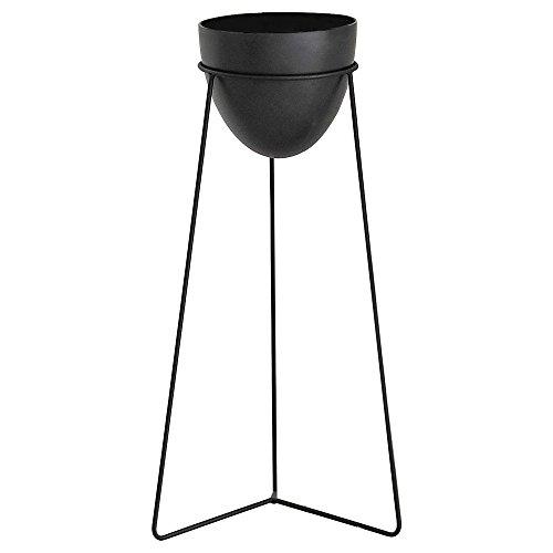 ルームアンドホーム 鉢カバー スタンド 観葉植物 ガーデニング Aタイプ モノ 大 ブラック 26×23×53cm