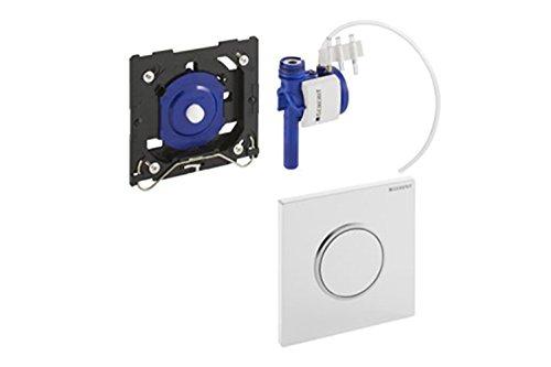 Geberit 116015KM1 Urinal Betätigungsplatte Typ 10 (Betätigung vorne + oben, Spülmenge einstellbar, Maße 13x13x1,3 cm) schwarz/verchromt