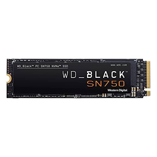 WD_BLACK 1TB SN750 NVMe Internal Gaming SSD Solid State Drive - Gen3 PCIe, M.2 2280, 3D NAND, Up to 3,470 MB/s - WDS100T3X0C