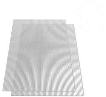 vidaXL 2x Paneles Lámina Placa de PC Cubierta Invernadero de Cámara Hueca...