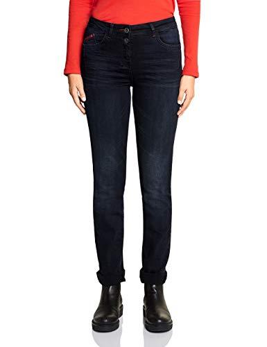 Cecil Damen 372720 Toronto Fit Slim Jeans, Blau (Blue/Black Used Wash 10770), W29/L32 (Herstellergröße: 29)