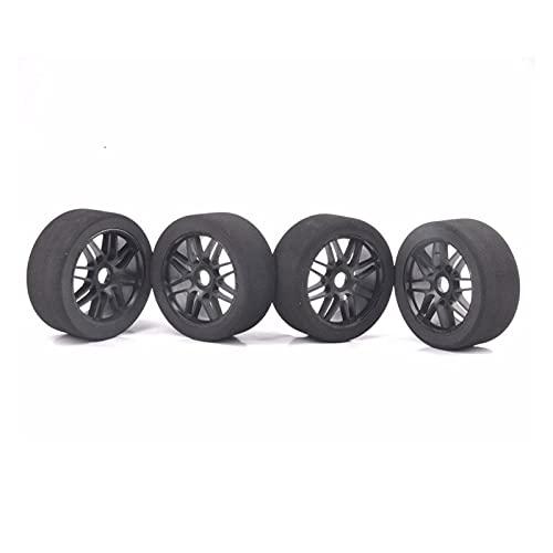 UJETML (H) Neumáticos RC Crawler 4 PCS 17mm Hex 1/8 RC Llantas de Espuma Llantas Llantas 105 mm Conjunto para HPI Car Neumáticos RC Slash 4x4 Neumáticos