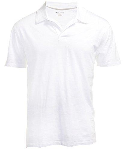 DKNY Jeans Mens Short Sleeve Polo Shirt XXL White