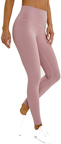 Chaos World Sporthose Damen High Waist Sport Leggings Elastische Tummy Control Yogahose Jogginghosen (Hellrosa, M/Tag 8)