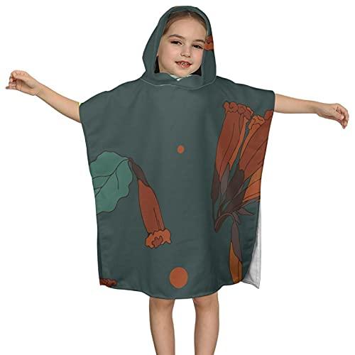 Toalla plana trópico lindo estilo dibujado a mano verano Vibe patrón sin costuras toalla de baño premium con capucha toallas de baño ultra suaves para niñas y niños bebé manta de natación